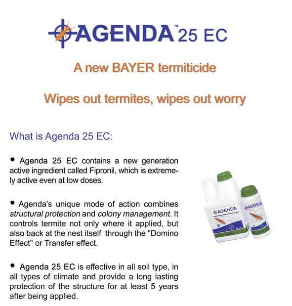 Bayer termite protection Agenda